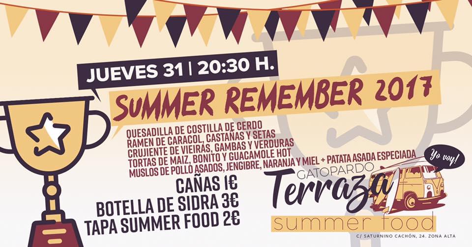 Hoy jueves, Summer Remember 2017 en Gatopardo Gastrobar 2