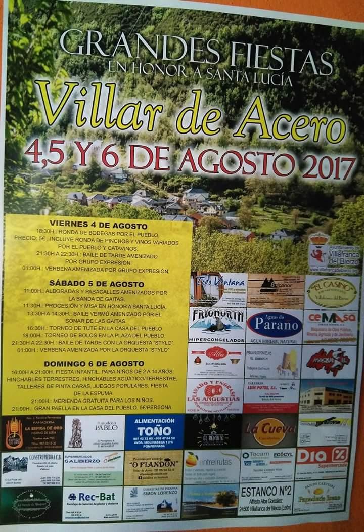 Fiestas patronales Villar de Acero