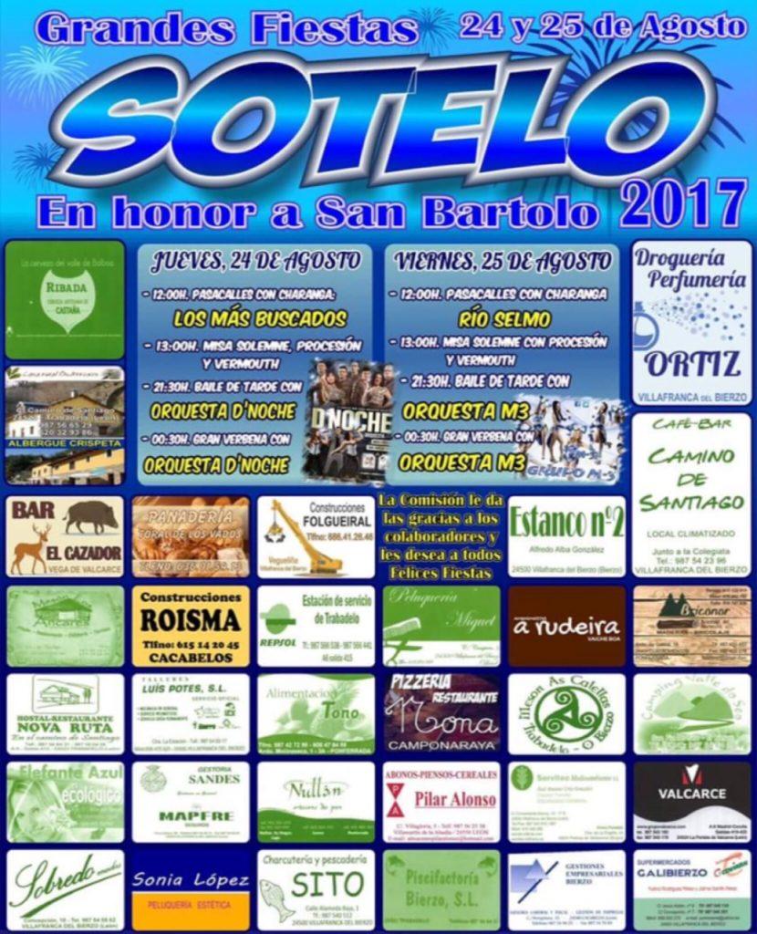 Fiestas en Sotelo (Trabadelo) 2017
