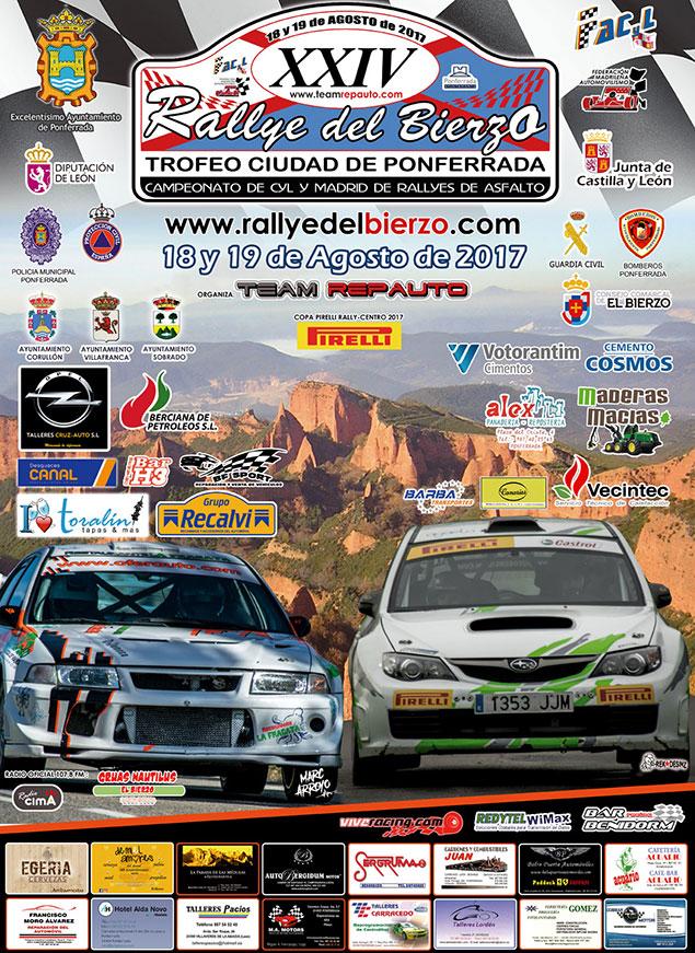 XXIV Rallye del Bierzo. 19 y 20 de agosto 2017