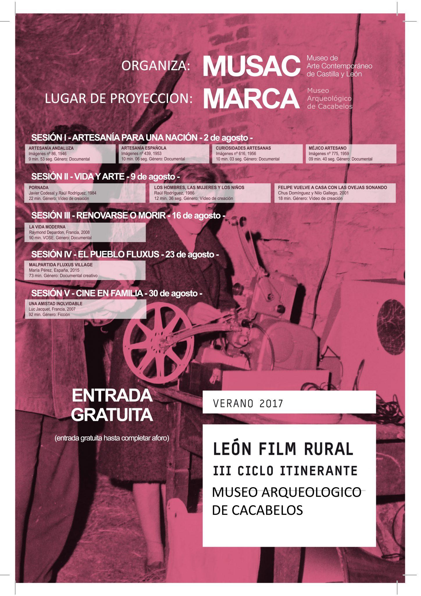 Sesión de cine rural en el Museo Marca de Cacabelos. Miércoles 2 de agosto 18:30h 2
