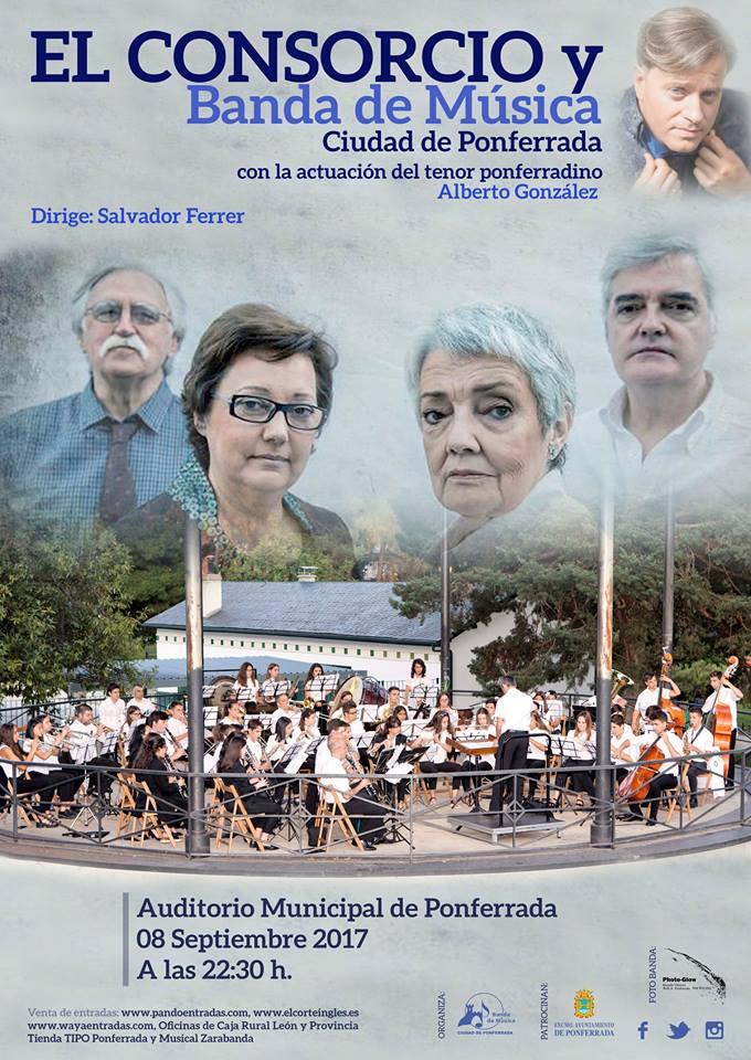 Conciertos Encina 2017: El Consorcio + Banda Municipal de Ponferrada +Alberto González