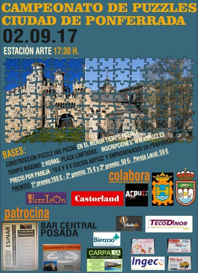 Campeonato de puzzles Ciudad de Ponferrada