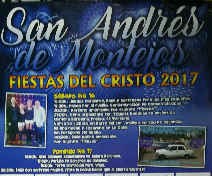Fiestas en San Andrés de Montejos 2017