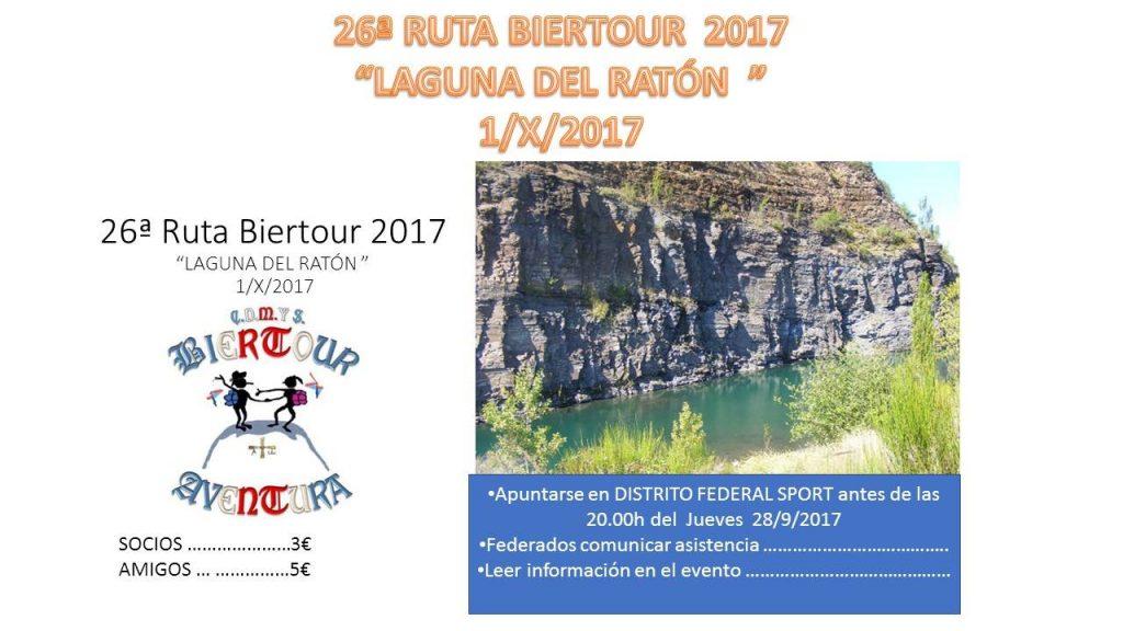 "26ª Ruta Biertour-Aventura ""Laguna del Ratón"""