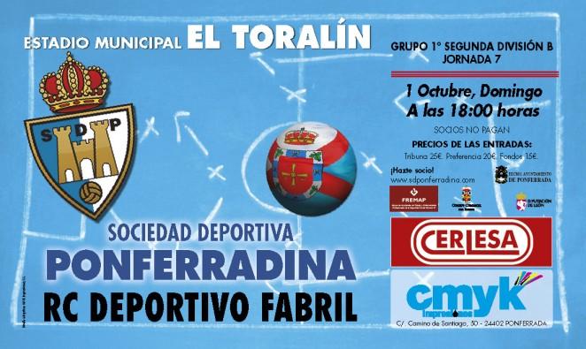 Fútbol SD Ponferradina – RC Deportivo Fabril