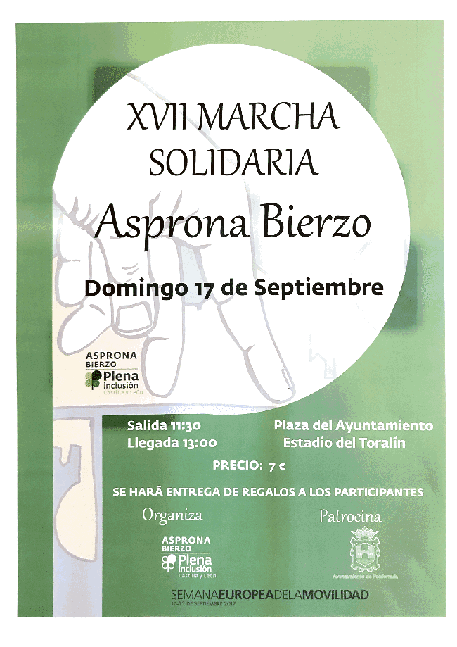 18ª marcha solidaria de Asprona Bierzo.