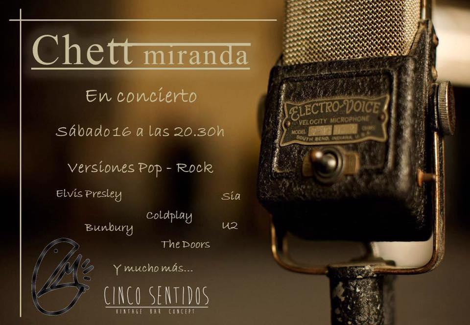 Concierto: Chett Miranda