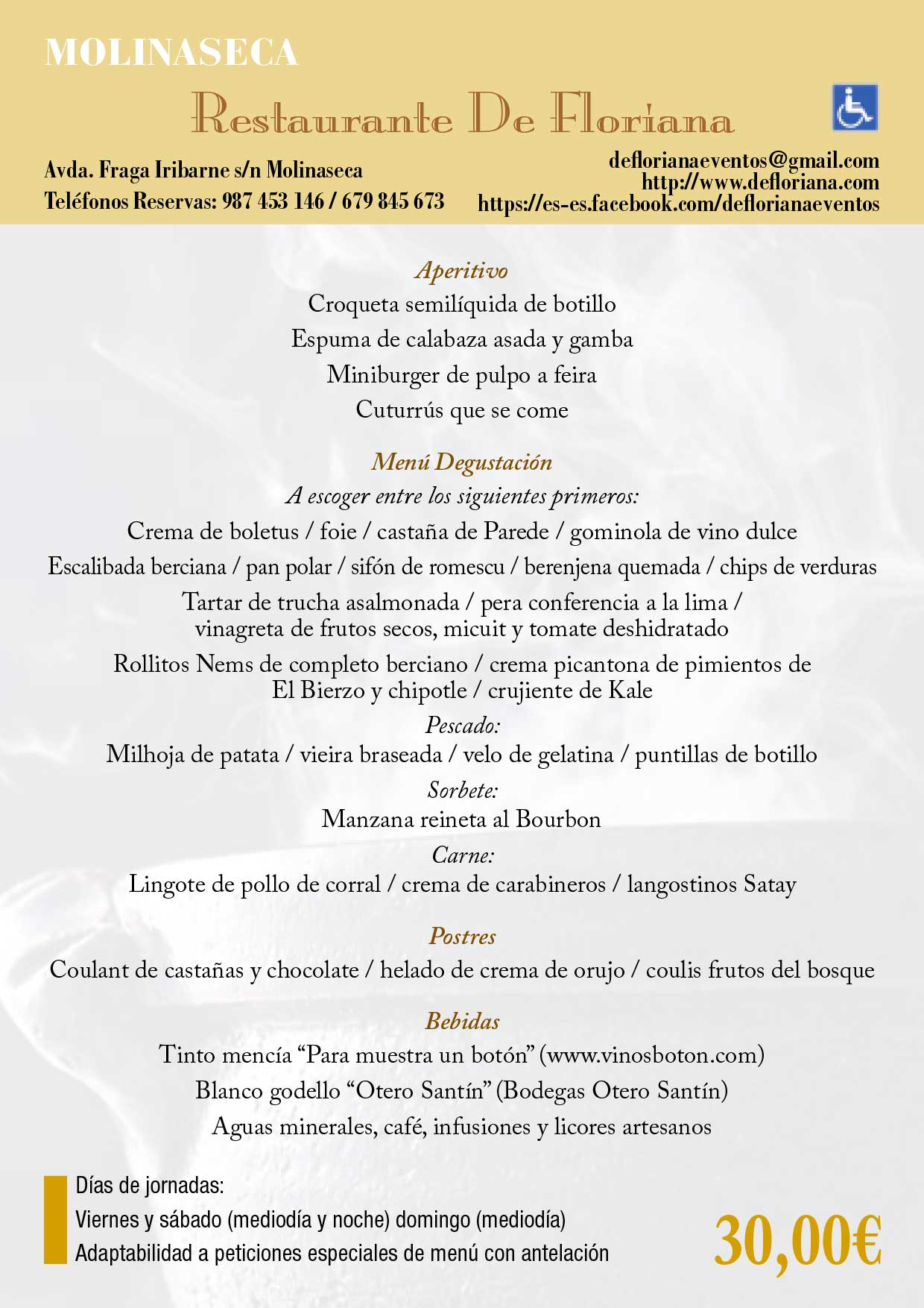 XXXIII Jornadas gastronómicas del Bierzo 2017. Restaurantes participantes 46