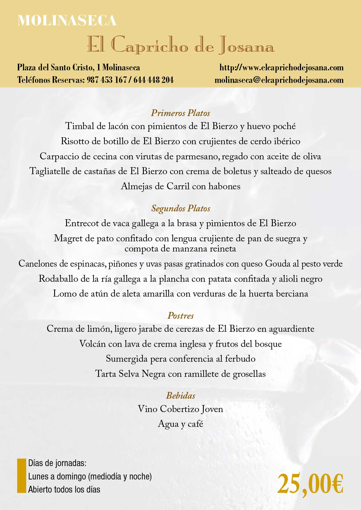 XXXIII Jornadas gastronómicas del Bierzo 2017. Restaurantes participantes 45
