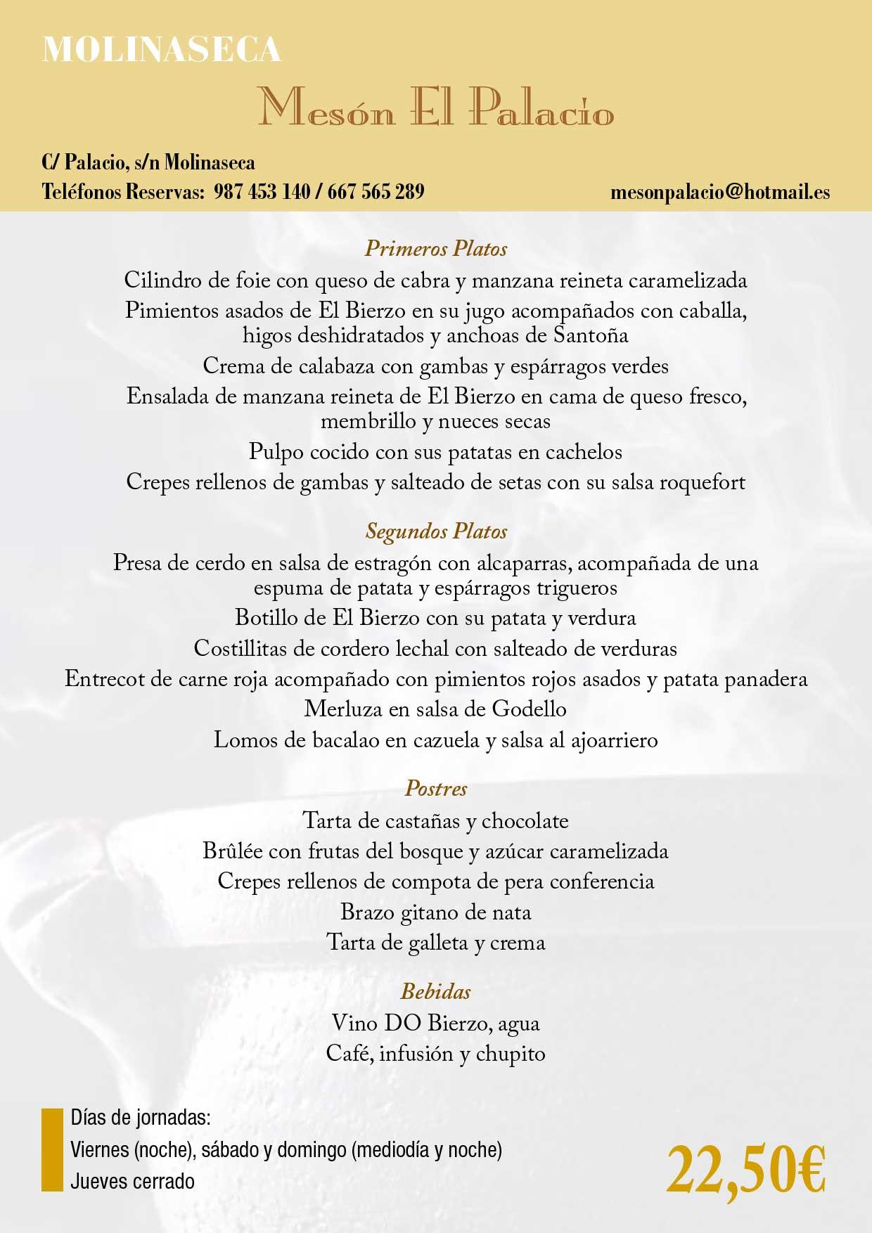XXXIII Jornadas gastronómicas del Bierzo 2017. Restaurantes participantes 44