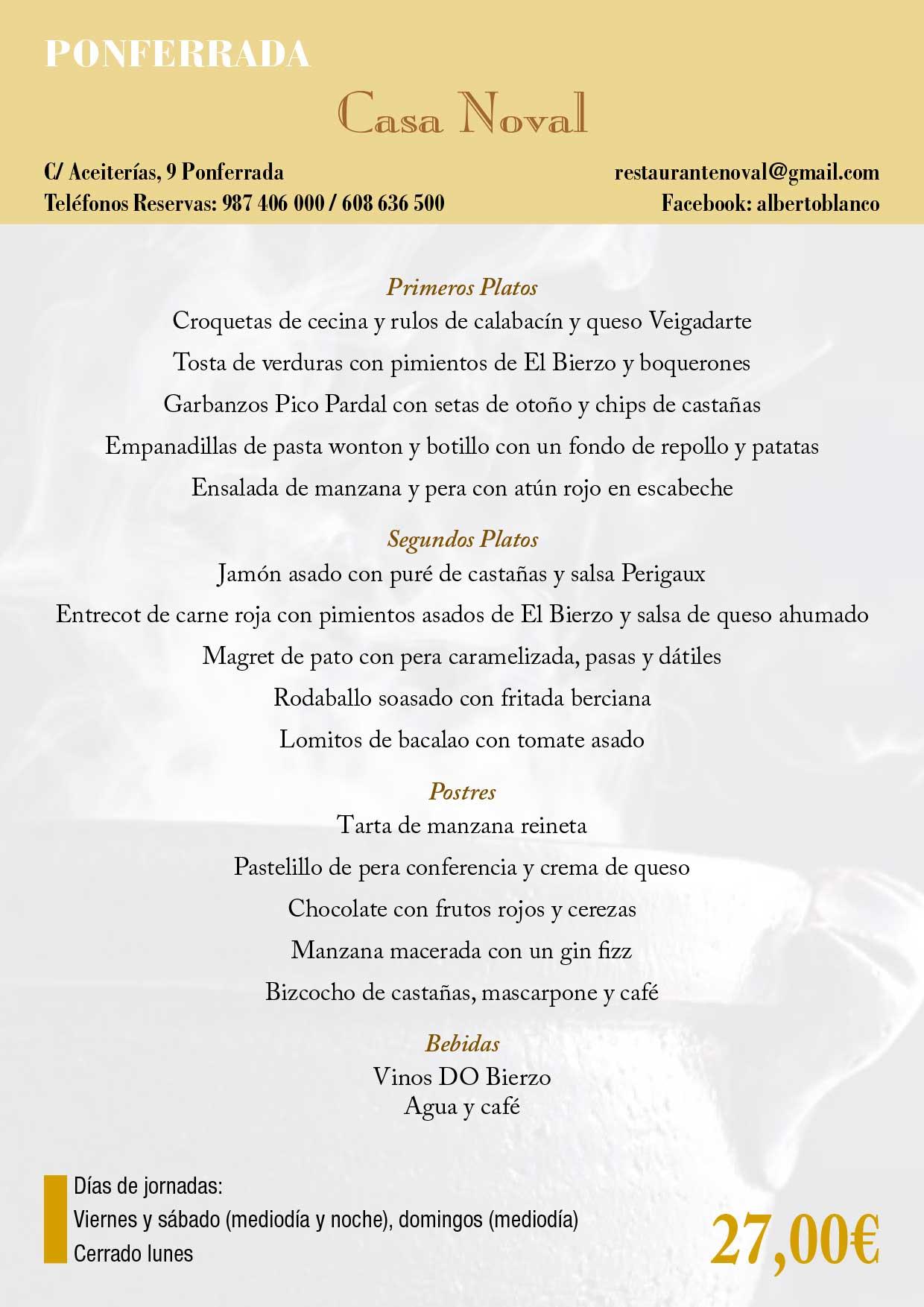 XXXIII Jornadas gastronómicas del Bierzo 2017. Restaurantes participantes 37
