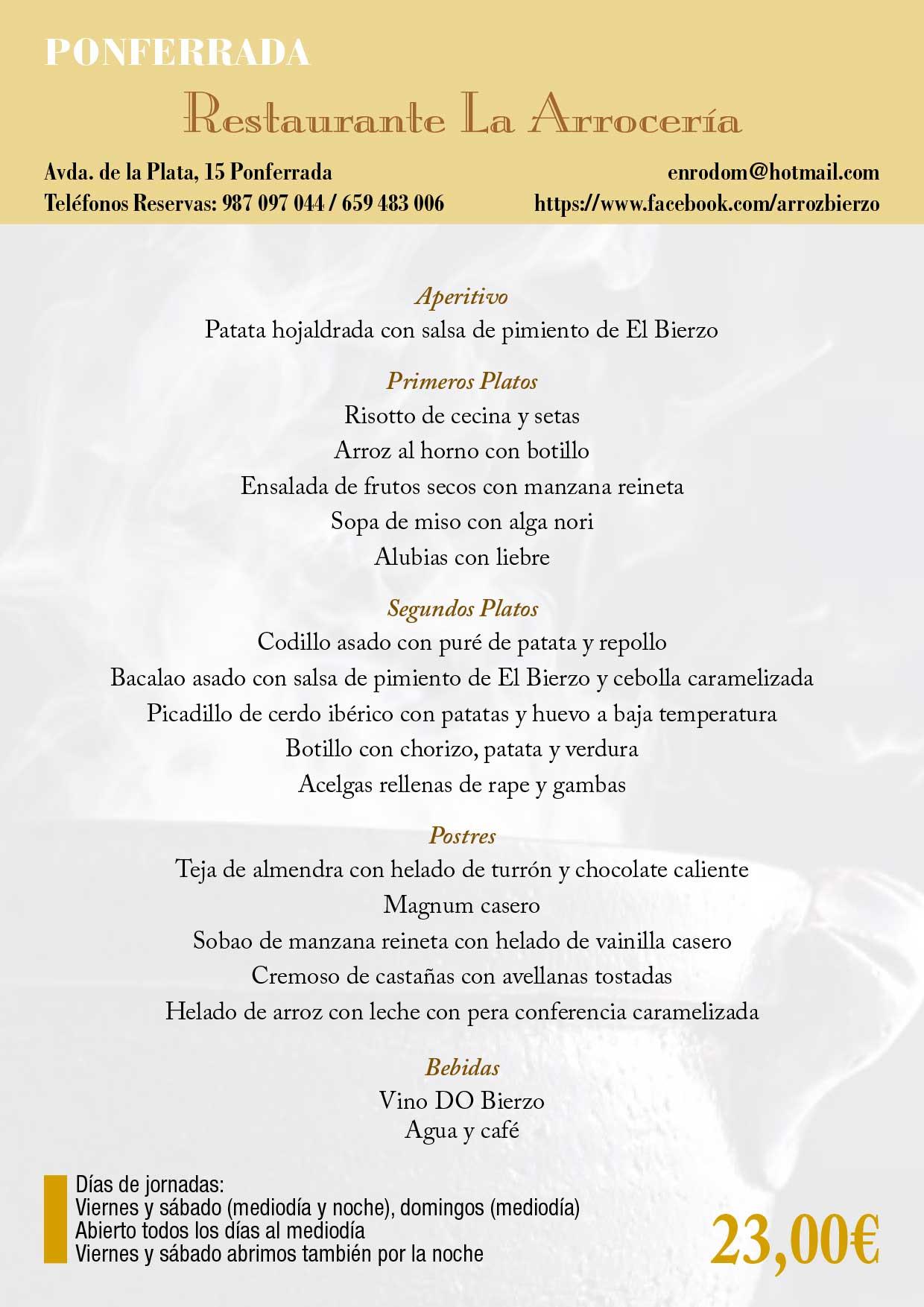 XXXIII Jornadas gastronómicas del Bierzo 2017. Restaurantes participantes 35