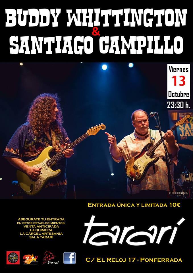 Buddy Whittington & Santiago Campillo en Ponferrada