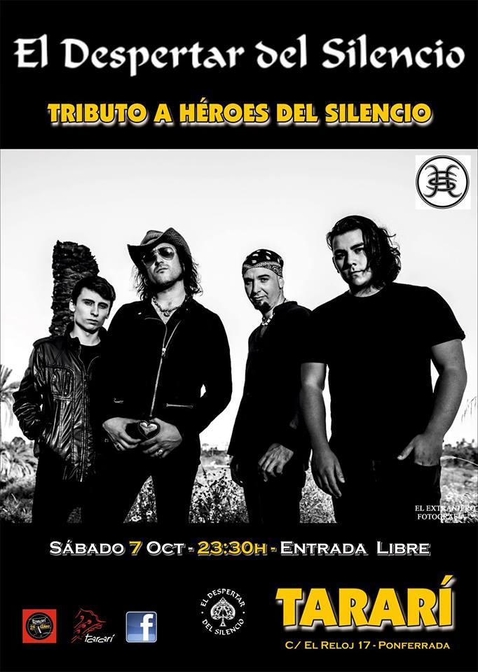 Concierto: El despertar del silencio, tributo a Héroes del Silencio