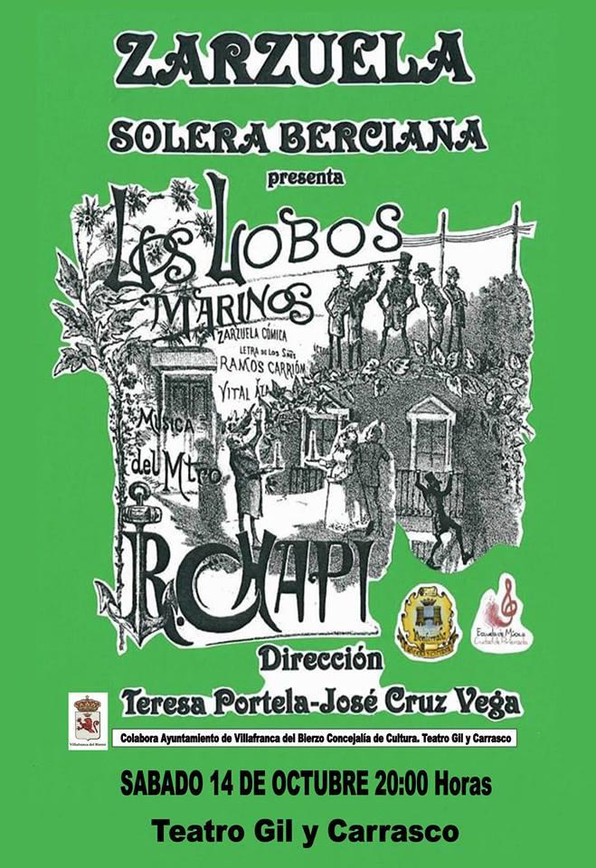 La Coral Solera Berciana representa la zarzuela 'Los lobos marinos' en el Teatro Gil y Carrasco de Villafranca del Bierzo