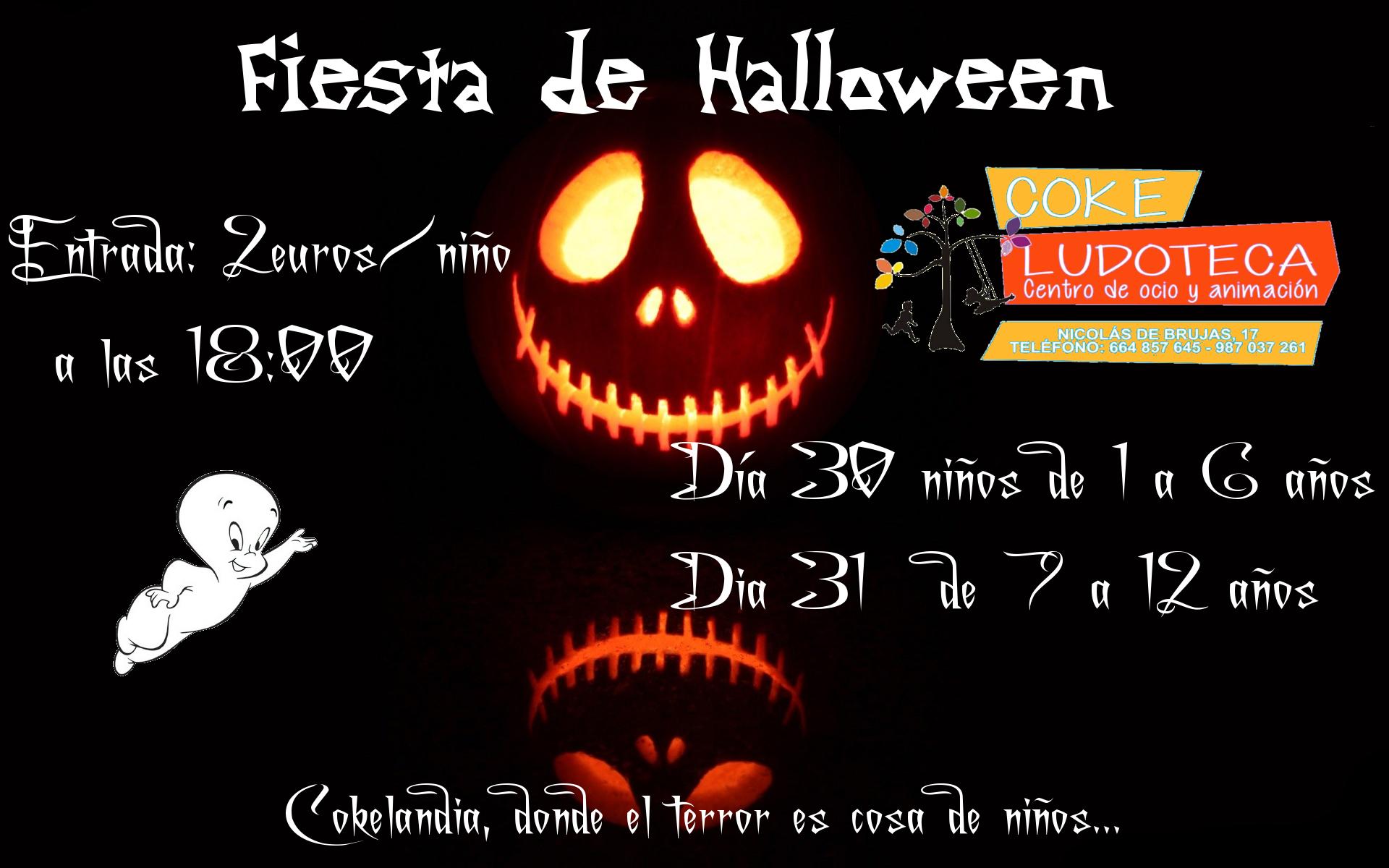 Fiesta Halloween 2017 en Ludoteka Coke 2
