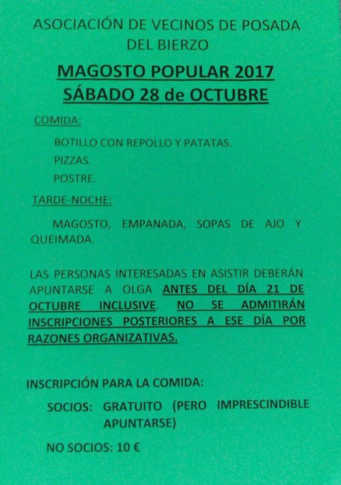 Magosto en Posada del Bierzo 2017. Sábado 28 de octubre 2017 2