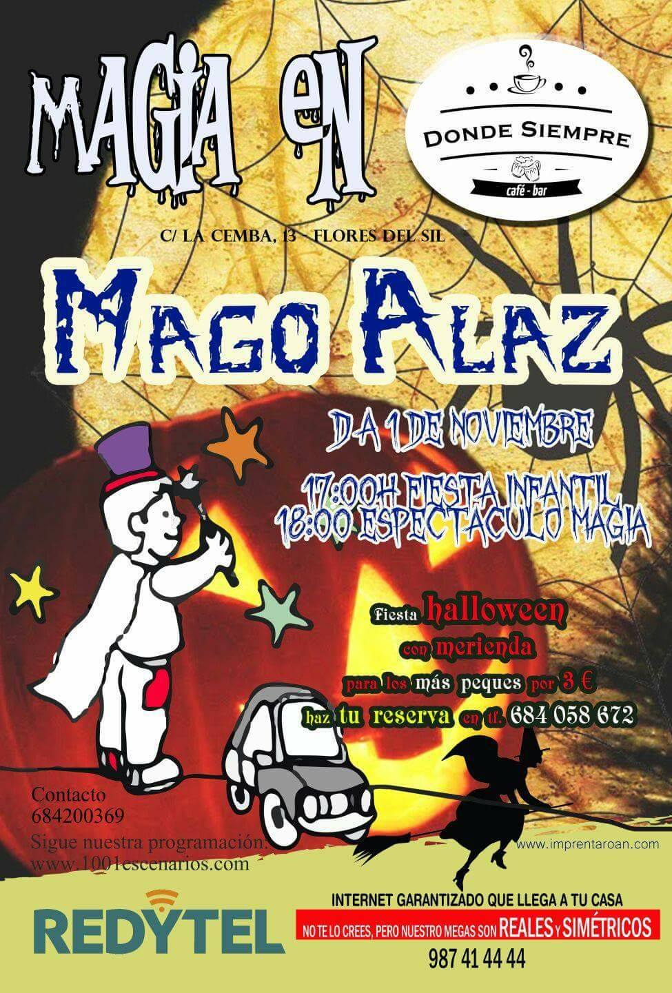Fiesta infantil de Hallowen con magia 2