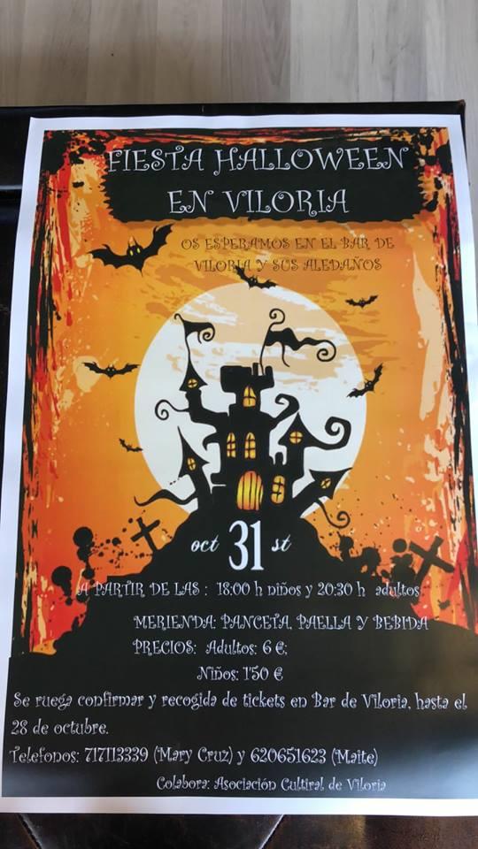 Fiesta Halloween 2017 en Viloria 2