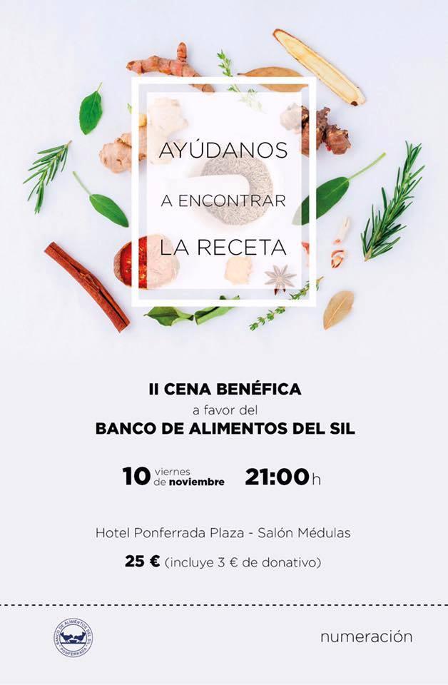II Cena benéfica a favor del banco de Alimentos del Sil