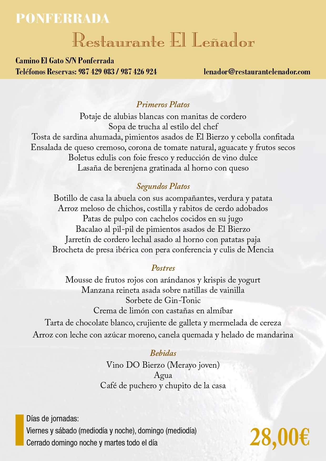 XXXIII Jornadas gastronómicas del Bierzo 2017. Restaurantes participantes 31