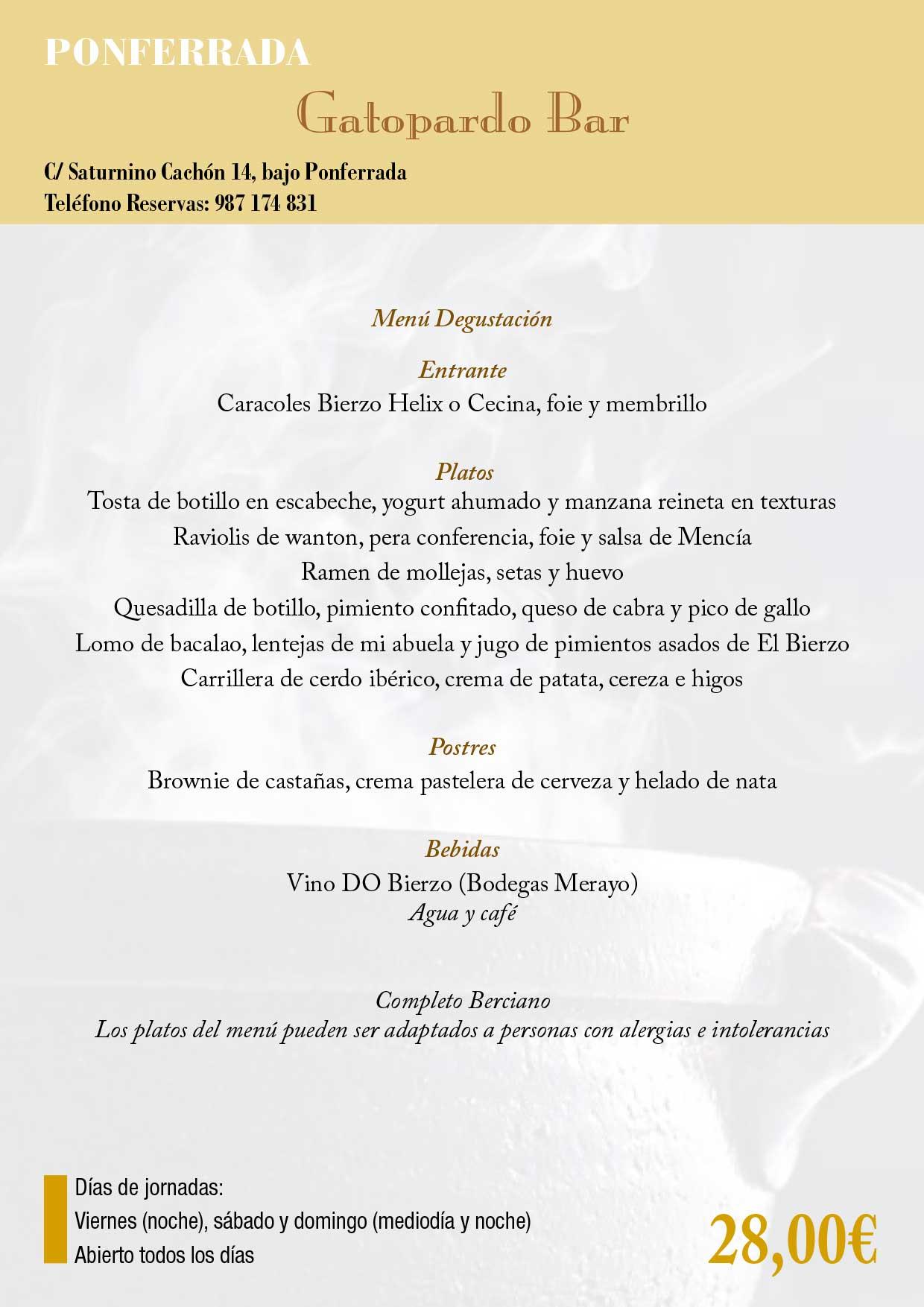 XXXIII Jornadas gastronómicas del Bierzo 2017. Restaurantes participantes 29