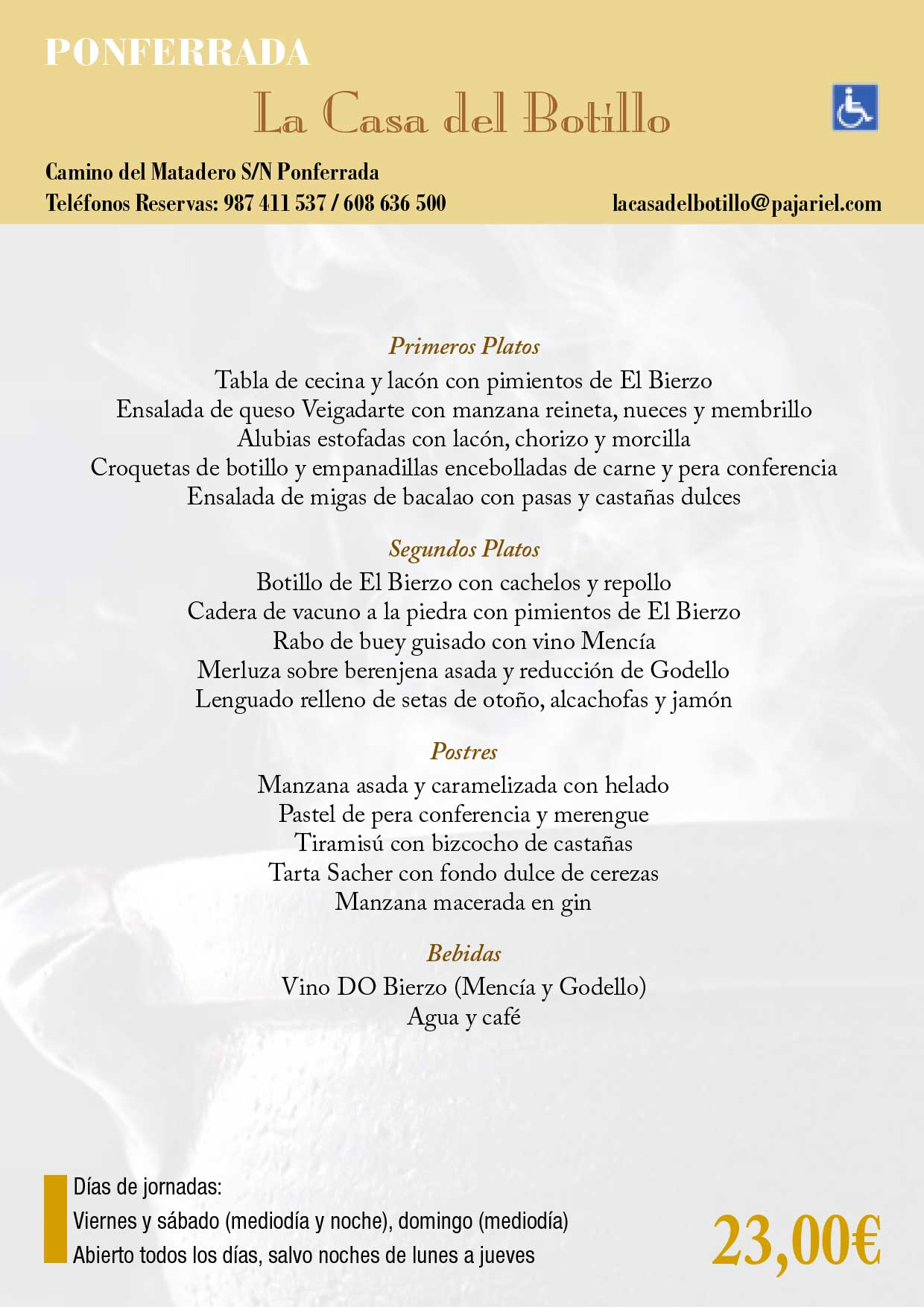 XXXIII Jornadas gastronómicas del Bierzo 2017. Restaurantes participantes 28