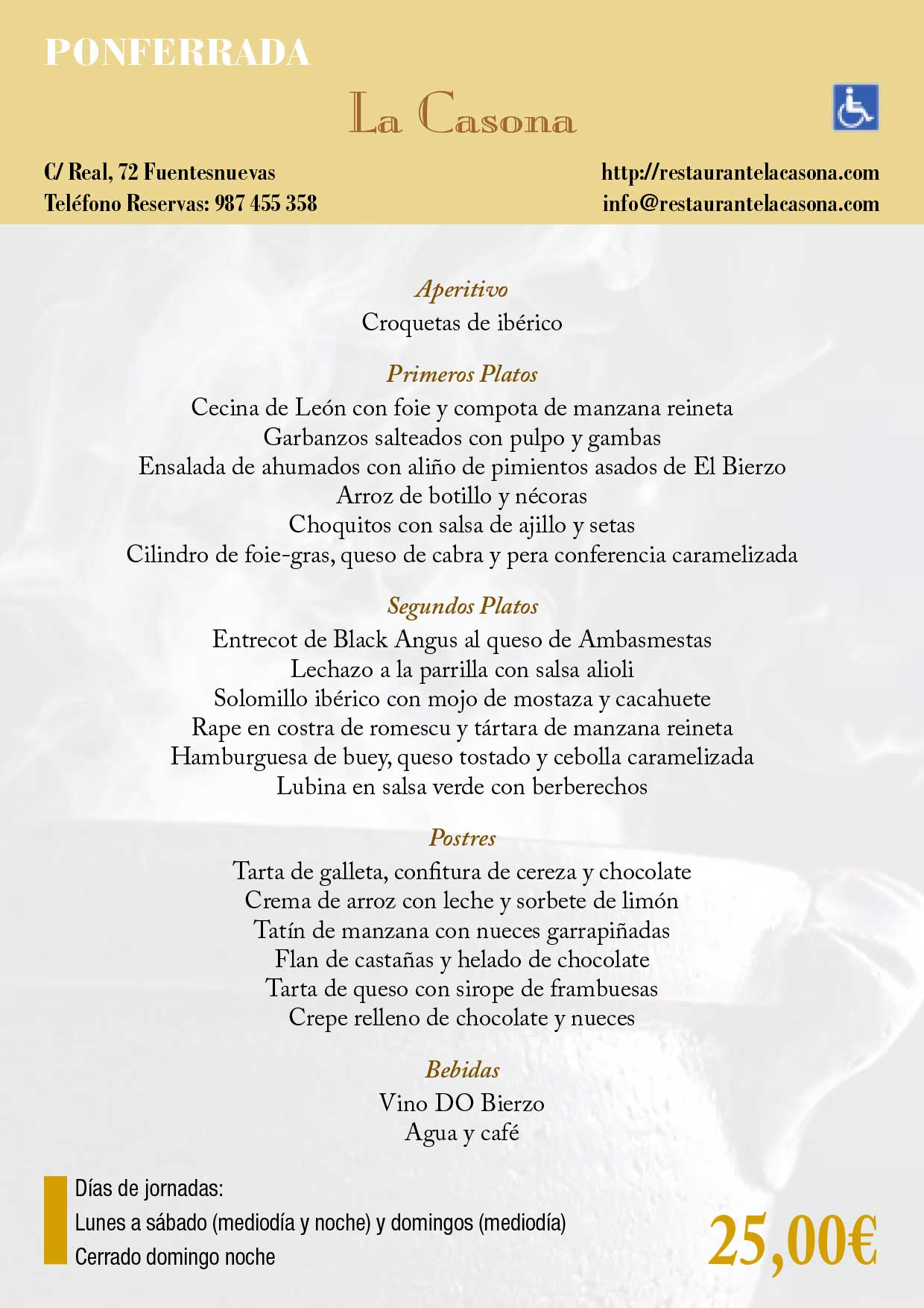 XXXIII Jornadas gastronómicas del Bierzo 2017. Restaurantes participantes 27