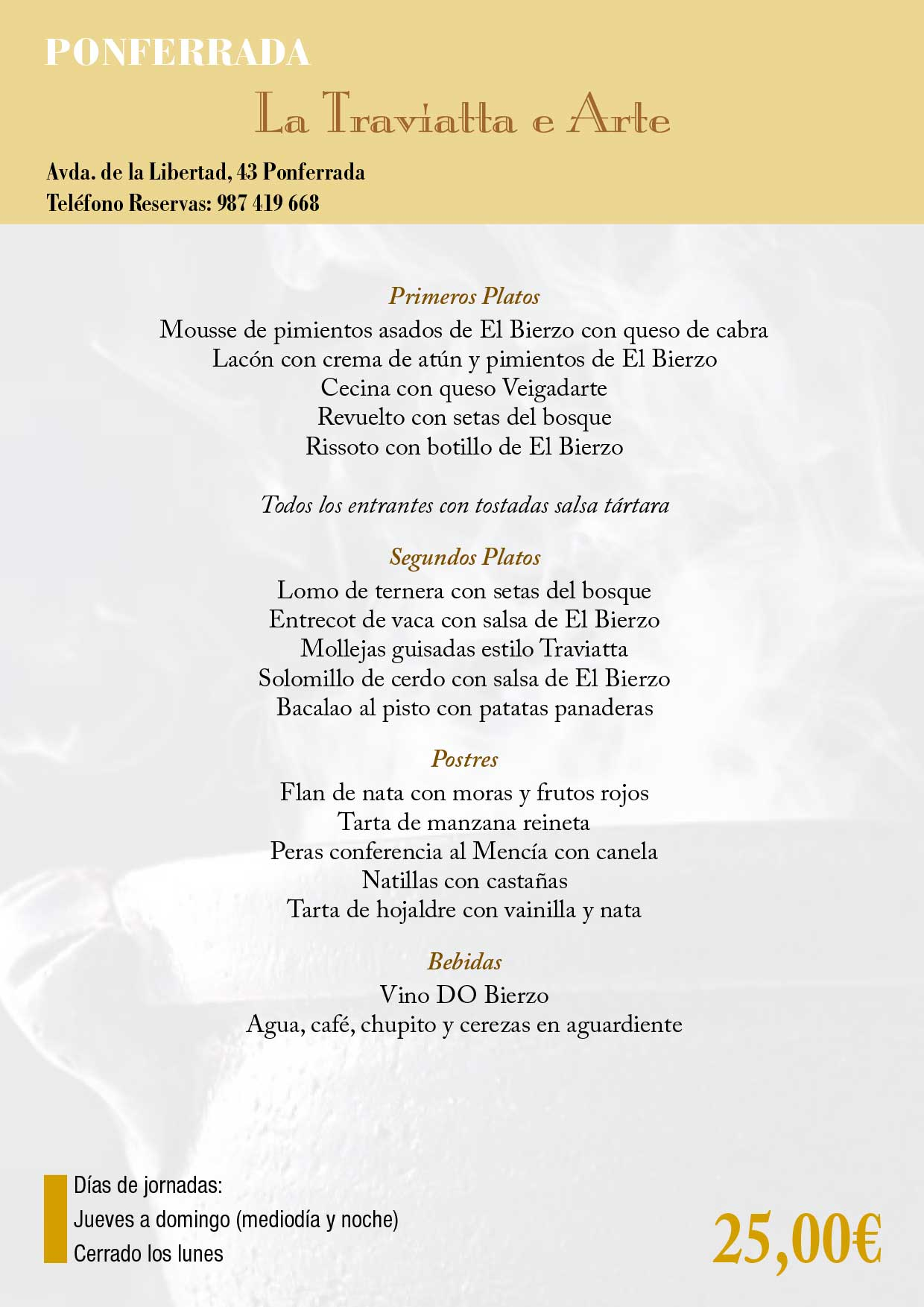 XXXIII Jornadas gastronómicas del Bierzo 2017. Restaurantes participantes 26