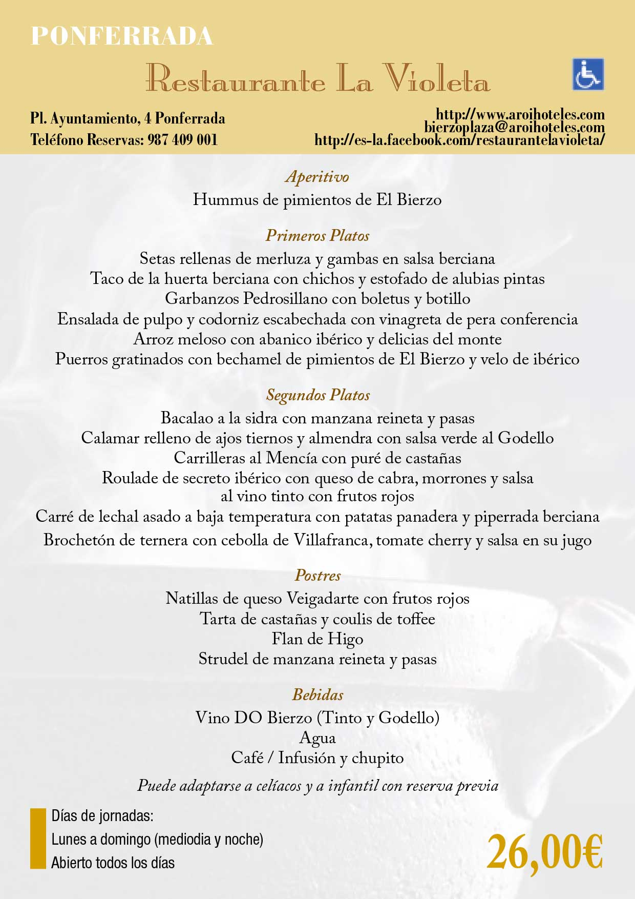 XXXIII Jornadas gastronómicas del Bierzo 2017. Restaurantes participantes 25