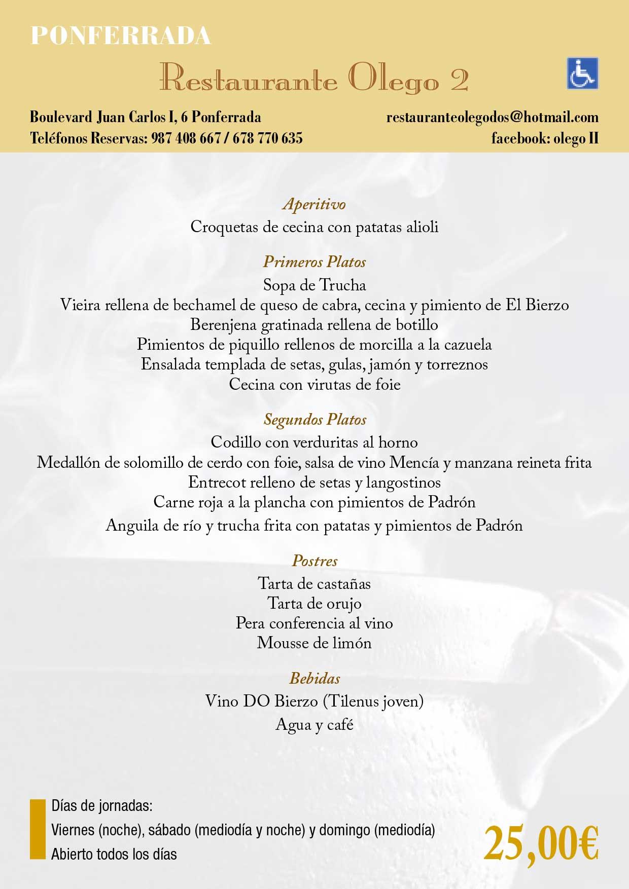 XXXIII Jornadas gastronómicas del Bierzo 2017. Restaurantes participantes 23