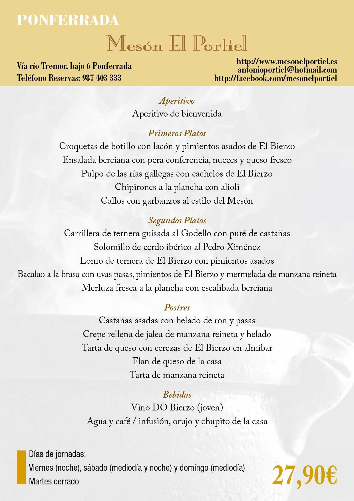 XXXIII Jornadas gastronómicas del Bierzo 2017. Restaurantes participantes 21