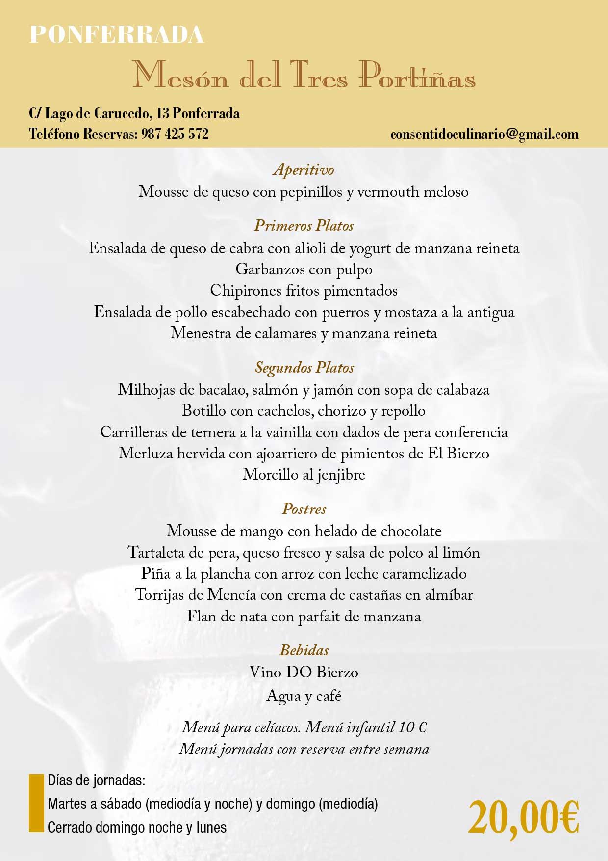 XXXIII Jornadas gastronómicas del Bierzo 2017. Restaurantes participantes 20