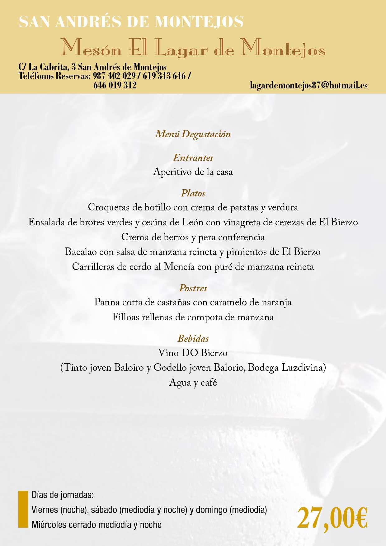 XXXIII Jornadas gastronómicas del Bierzo 2017. Restaurantes participantes 17
