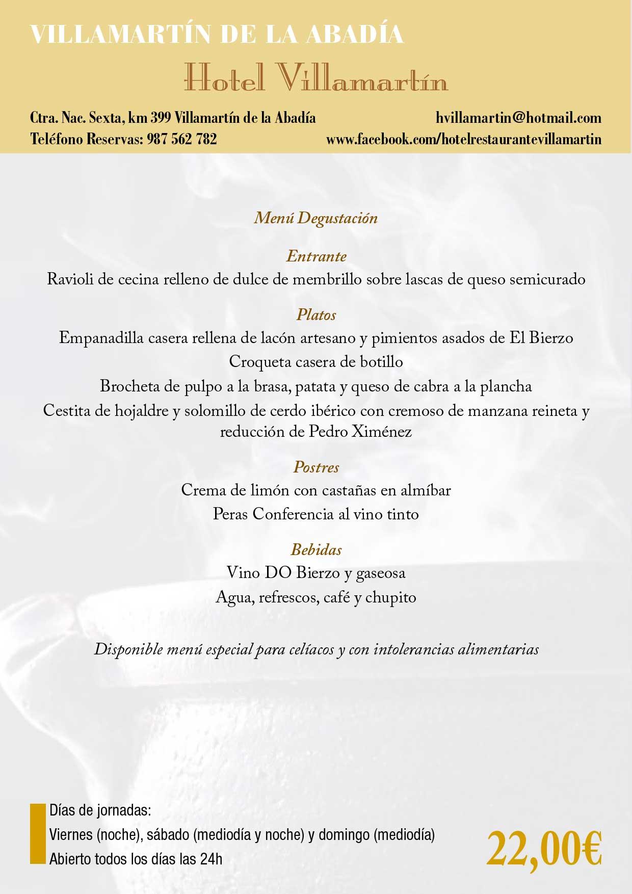 XXXIII Jornadas gastronómicas del Bierzo 2017. Restaurantes participantes 12