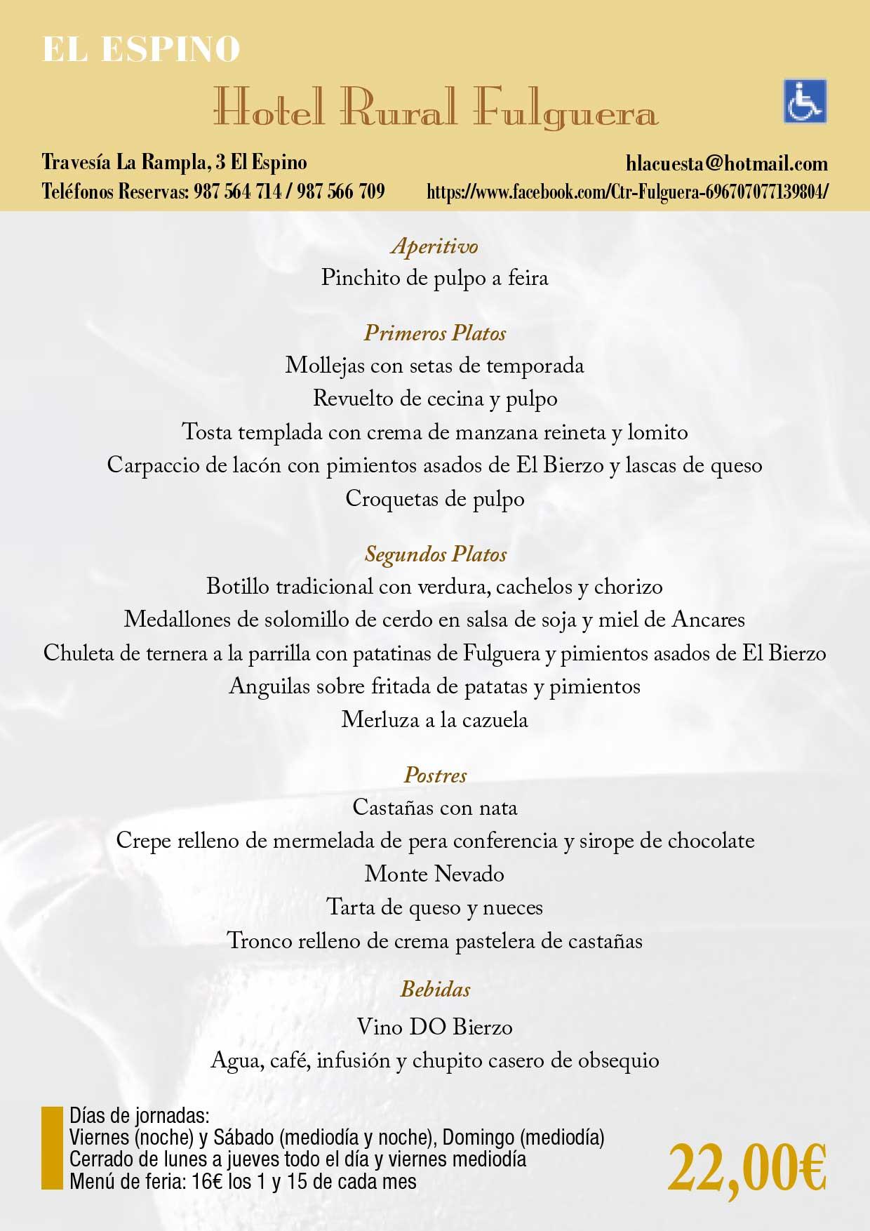 XXXIII Jornadas gastronómicas del Bierzo 2017. Restaurantes participantes 8