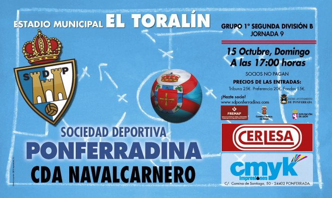 Fútbol: SD Ponferradina – CDA Navalcarnero