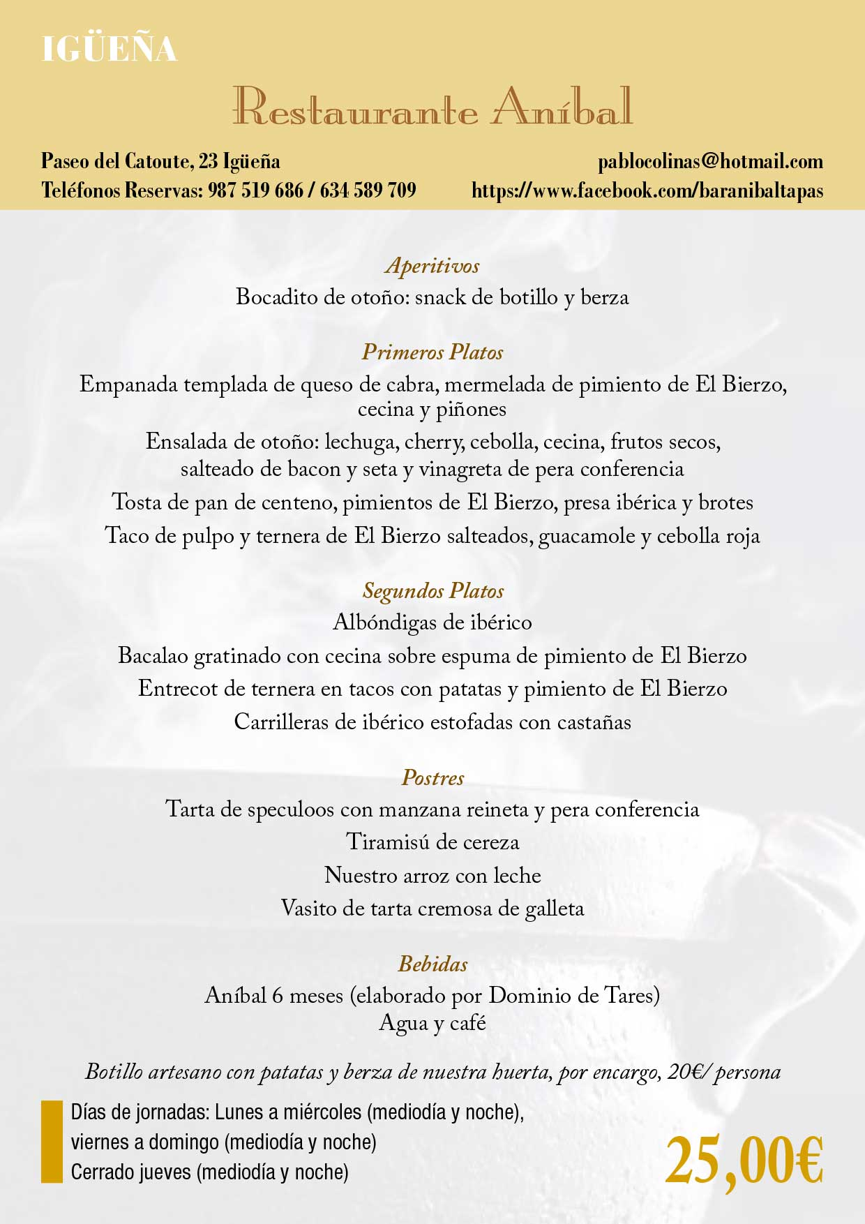 XXXIII Jornadas gastronómicas del Bierzo 2017. Restaurantes participantes 9