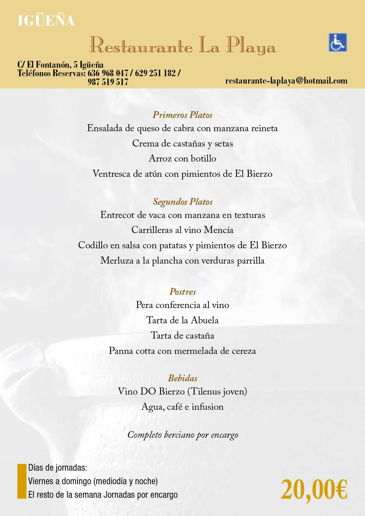 XXXIII Jornadas gastronómicas del Bierzo 2017. Restaurantes participantes 10