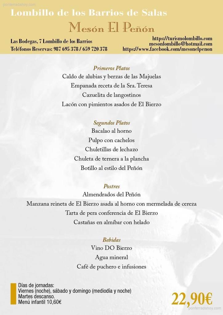 XXXIII Jornadas gastronómicas del Bierzo 2017. Restaurantes participantes 11