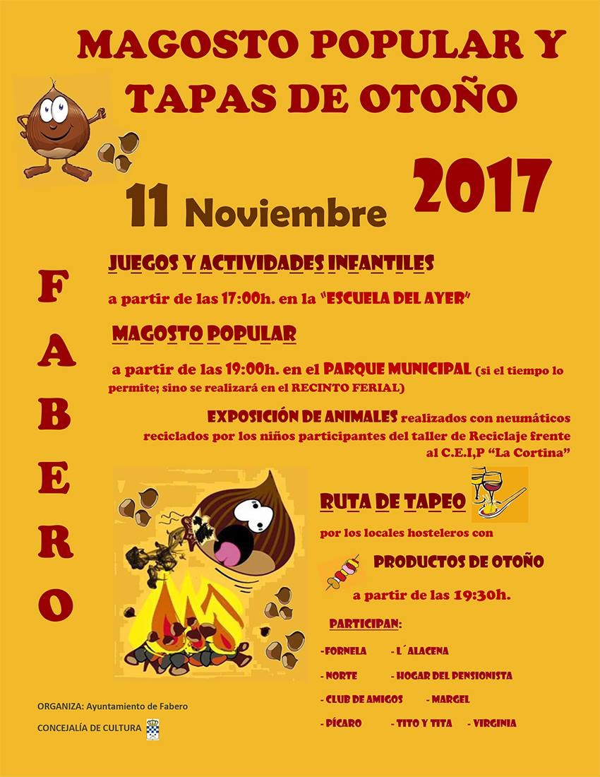 Magosto Popular y tapas de otoño en Fabero