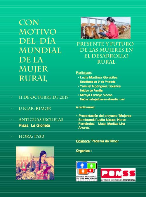 Presente y Futuro de las Mujeres en el Desarrollo Rural, con motivo del Día Mundial de la Mujer Rural 2017