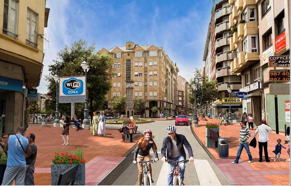 Así quedará el centro de Ponferrada tras el plan de comercio planeado por el Ayuntamiento 3