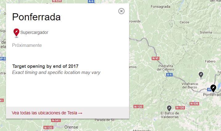 Tesla situará un supercargador de vehículos eléctricos en Ponferrada antes del fin de 2017 2