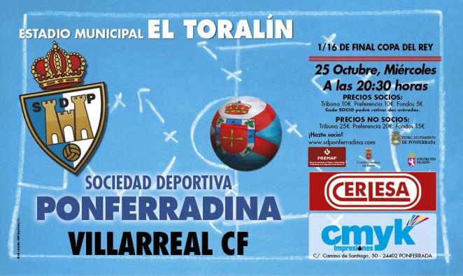 Fútbol Copa del rey SD Ponferradina – Villarreal CF