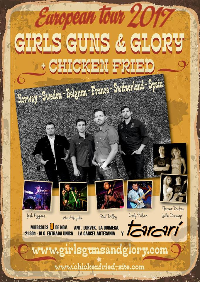 Concierto: Girls Guns and Glory + Chicken Fried