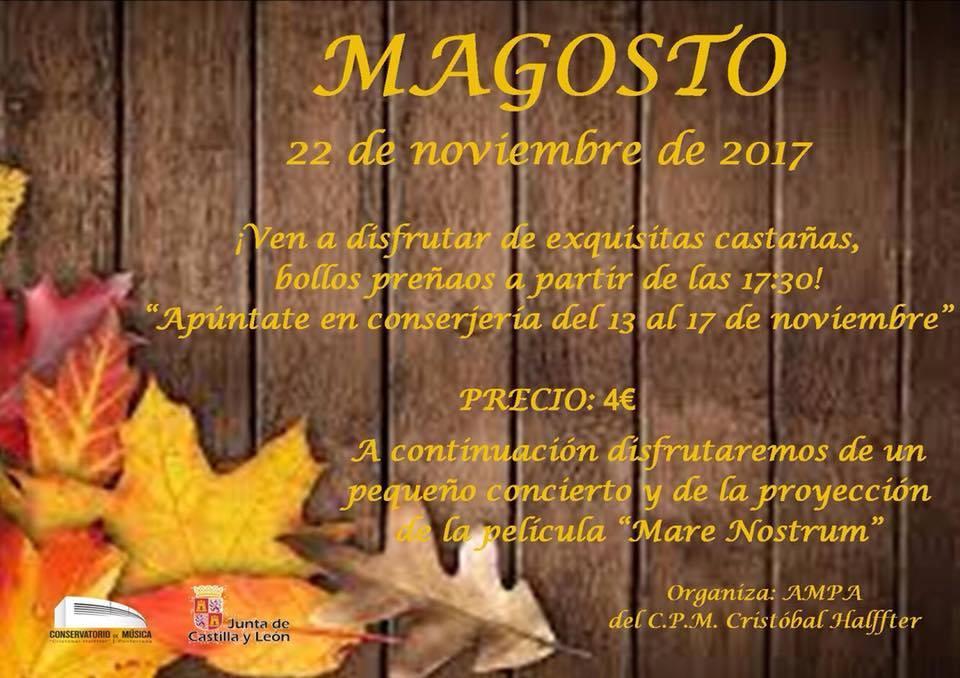 Magosto Ampa conservatorio Cristobal Halfter 2017