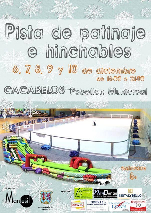 Pista de patinaje e hinchables