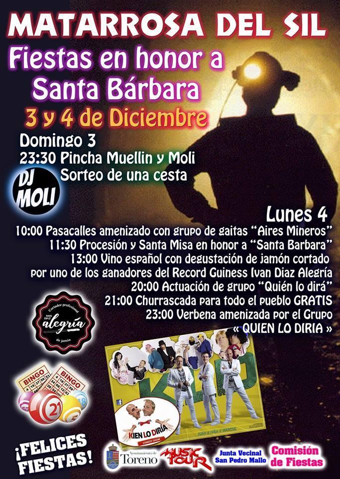Fiestas de Santa Bárbara en Matarrosa del Sil